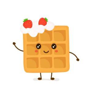 Waffle Waving Hello